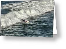 Oceanside Surfer 3 Greeting Card