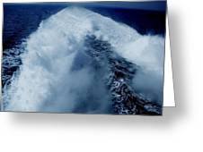 Oceon Waves Denmark Greeting Card