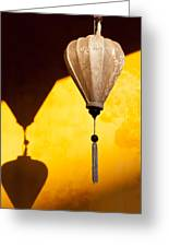 Ochre Wall Silk Lanterns  Greeting Card