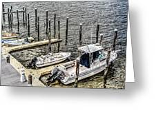 Ocnj Boats At Marina Greeting Card