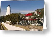 Ocracoke Island Lighthouse Img 3529 Greeting Card