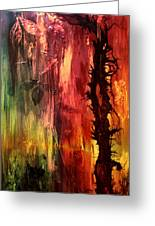 October Abstract Greeting Card