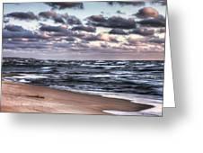 October At The Beach Saugatuck Michigan Greeting Card