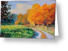 October Backroad Greeting Card