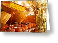 October Market Greeting Card