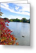 October On The Lake Greeting Card