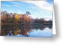 October Pond View Greeting Card
