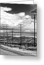 October Road Palm Springs Greeting Card
