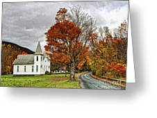 October Skies Greeting Card