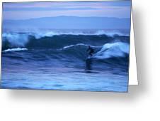 October Surf Greeting Card