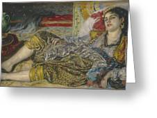 Odalisque Greeting Card by Pierre Auguste Renoir