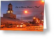 Ode To Harry Chapins Taxi Greeting Card