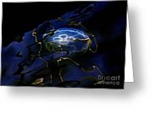 Odyssea Moon Jellyfish 1 Greeting Card