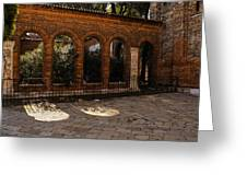 Of Courtyards And Elegant Arches  Greeting Card