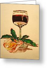Of Wine And Roses Greeting Card