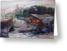 Off Hours At The Ship Yard In Kirchdorf Island Poel Greeting Card