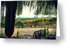 Off Into The Horizon Wine Country Views Greeting Card