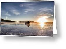 Off Road Uyuni Salt Flat Tour Select Focus Greeting Card