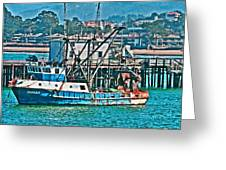 Off Shore Fishing Greeting Card