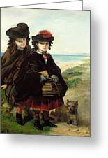Off To School, 1860 Greeting Card