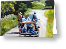 Off To The Vineyards Greeting Card