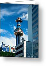Office Building And Waste-to-energy Plant Vienna Greeting Card by Stephan Pietzko