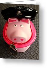 Officer Bacon Wants A Doughnut Greeting Card