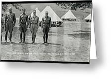 Officers At Camp Newayo, New York State Greeting Card