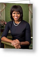 Official Portrait Of First Lady Michelle Obama Greeting Card