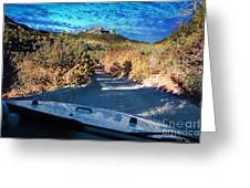 Offroad Driving View From Inside The Car Greeting Card