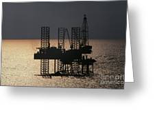 Offshore Drill Rig Platform Greeting Card