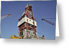 Offshore Drilling Tower Greeting Card