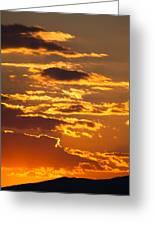 Ograzhden Mountain Sunset Greeting Card