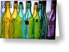 Ogunquit Bottles Greeting Card