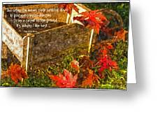 Oh How I Love Autumn With Poetry Greeting Card