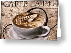 Oh My Latte Greeting Card by Lourry Legarde