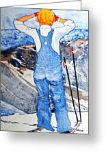 Oh Say Can You Ski Greeting Card