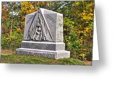 Ohio At Gettysburg - 29th Ohio Volunteer Infantry Autumn Mid-afternoon Culp's Hill Greeting Card