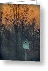 Ohio Bird House At Sunset Greeting Card