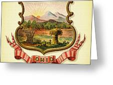 Ohio Coat Of Arms - 1876 Greeting Card