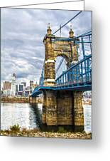 Ohio River Bridge Greeting Card