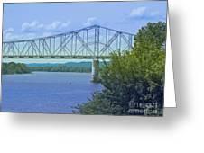 Ohio River Crossing Greeting Card