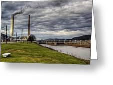 Ohio River Lock Greeting Card