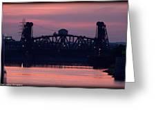 Ohio River Railroad Bridge Greeting Card