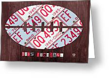 Ohio State Buckeyes Football Recycled License Plate Art Greeting Card
