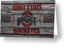 Ohio State Buckeyes Greeting Card by Joe Hamilton