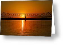 Ohio Sunset Greeting Card