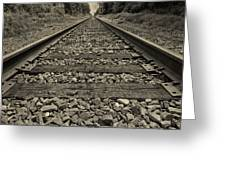 Ohio Train Tracks Greeting Card