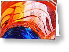 Oil And Water 26 Greeting Card by Sarah Loft