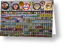 Oil Cans And Gas Signs Greeting Card by Garry Gay